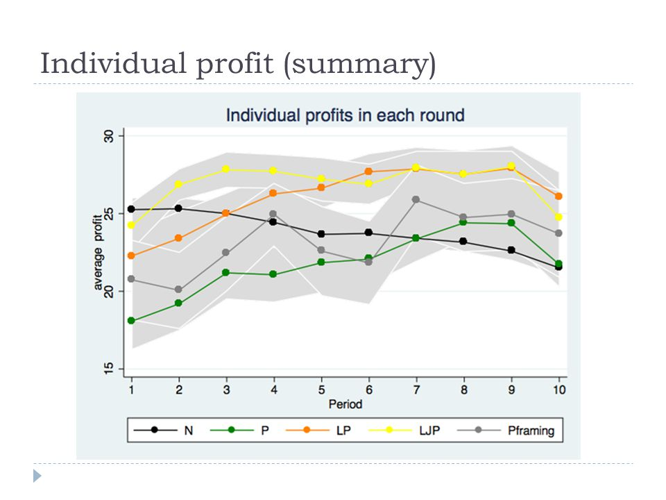 Individual profit (summary)