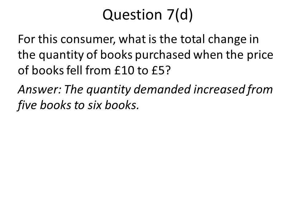 Question 7(d)