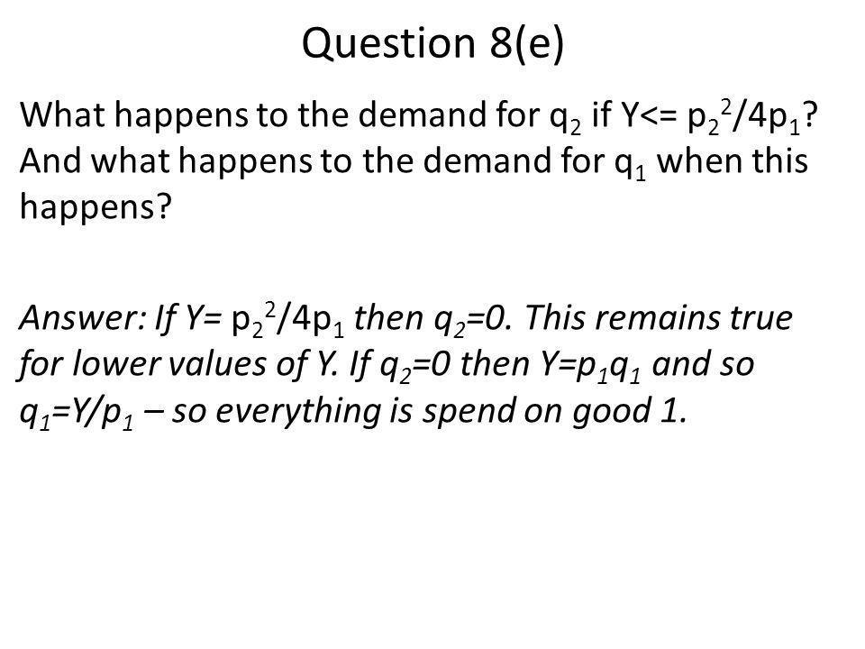 Question 8(e)