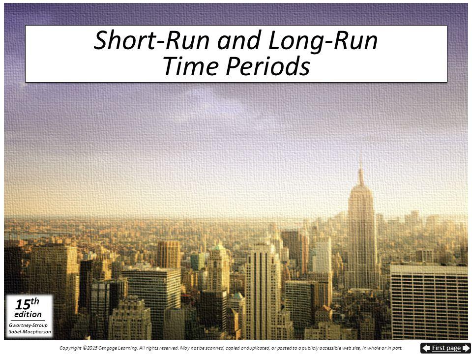 Short-Run and Long-Run Time Periods