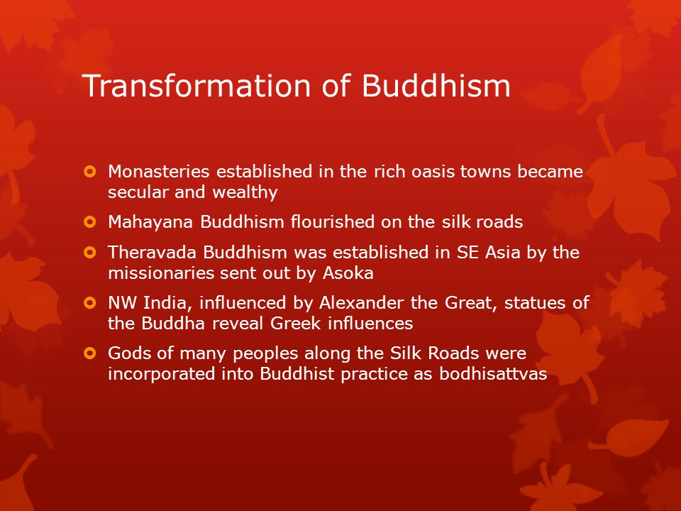 Transformation of Buddhism