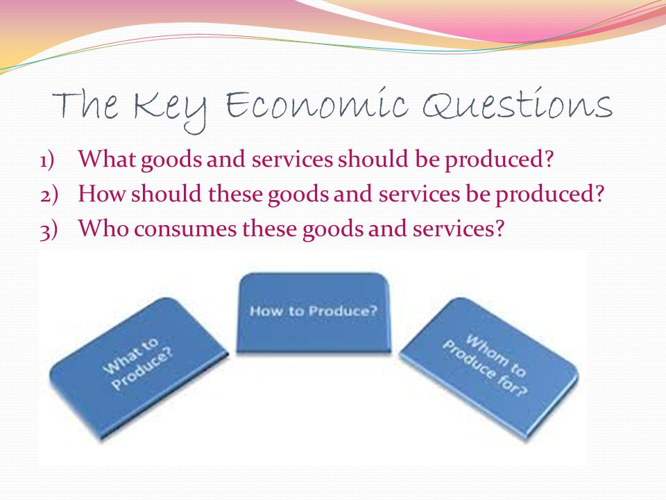The Key Economic Questions