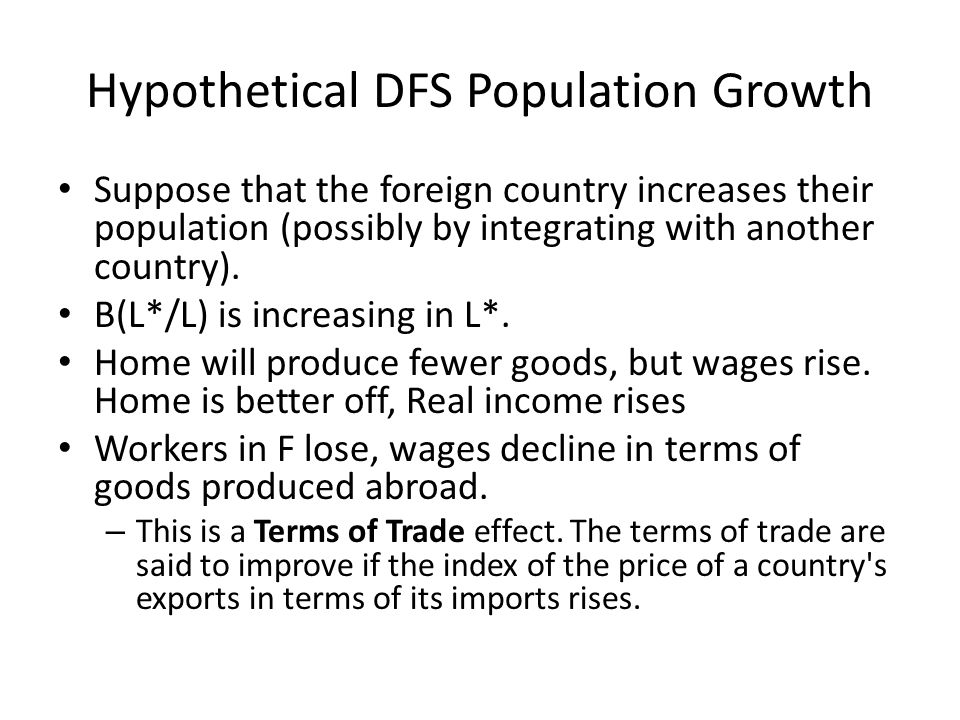 Hypothetical DFS Population Growth