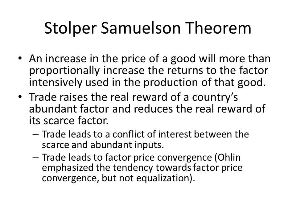 Stolper Samuelson Theorem
