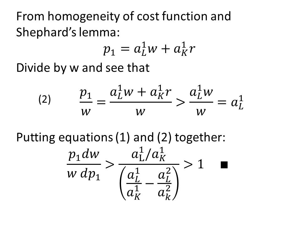 𝑝 1 𝑤 = 𝑎 𝐿 1 𝑤+ 𝑎 𝐾 1 𝑟 𝑤 > 𝑎 𝐿 1 𝑤 𝑤 = 𝑎 𝐿 1