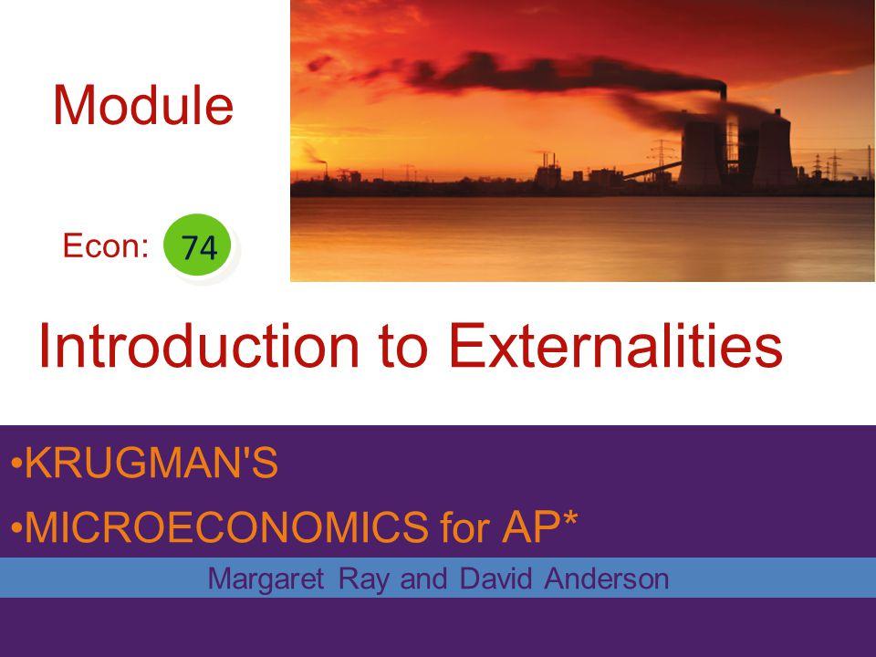 Introduction to Externalities