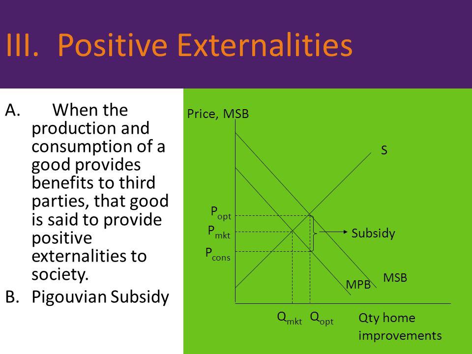 III. Positive Externalities