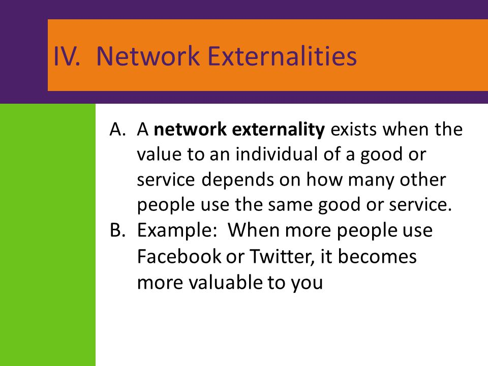 IV. Network Externalities