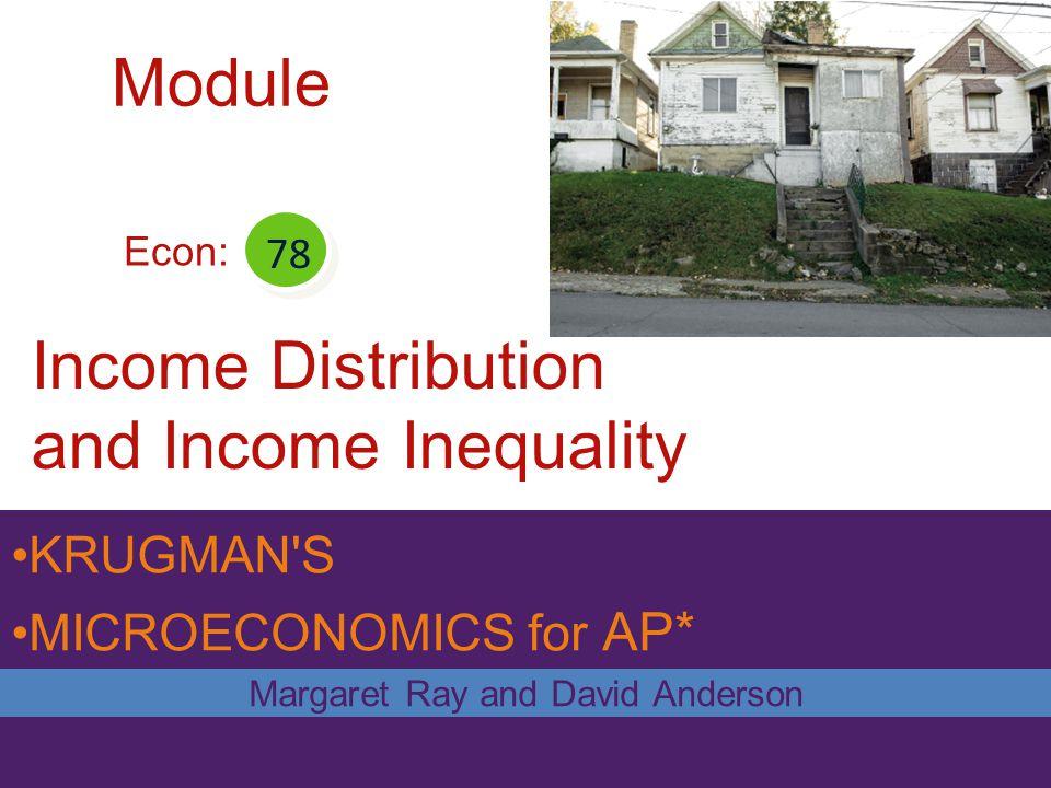 Income Distribution and Income Inequality