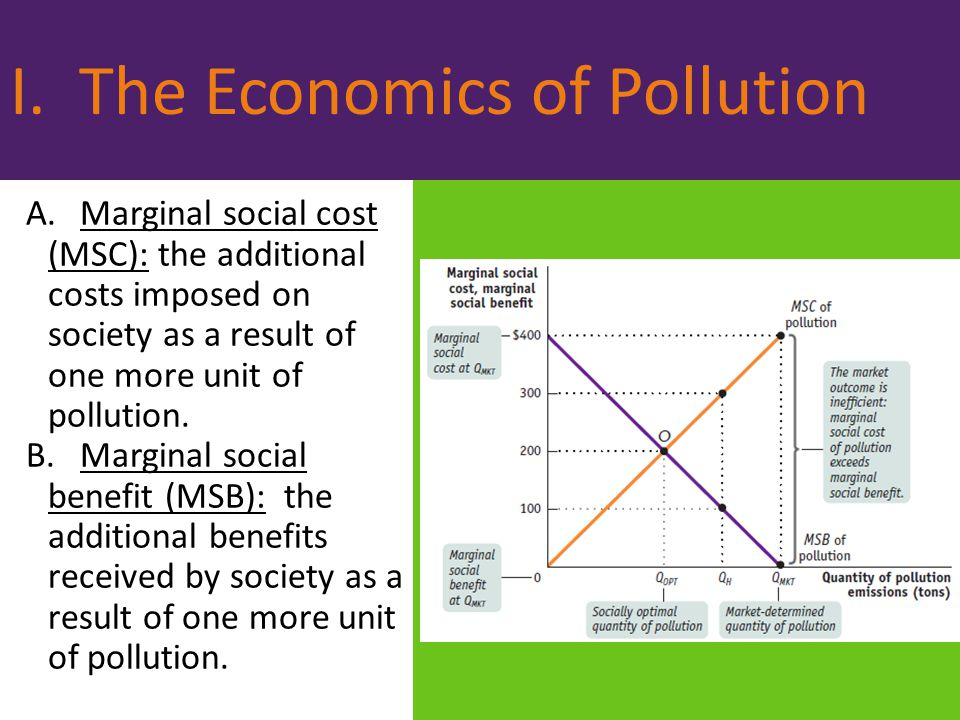 economics eliminating all pollution is Correcting for negative externalities - regulation versus tradablepermits  (that is, eliminating all 4 units of pollution)  economics the condition of non.