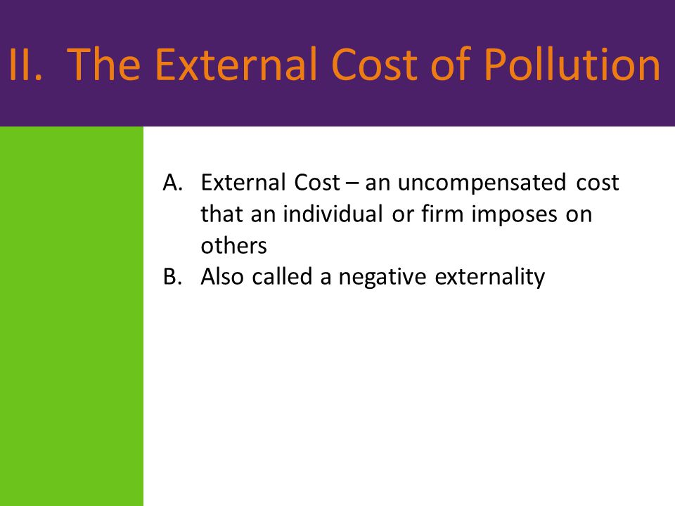 II. The External Cost of Pollution