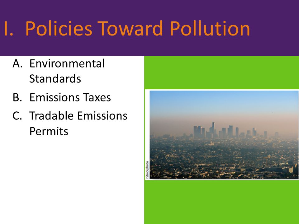 I. Policies Toward Pollution