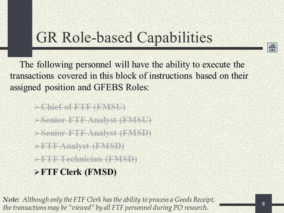 GR Role-based Capabilities