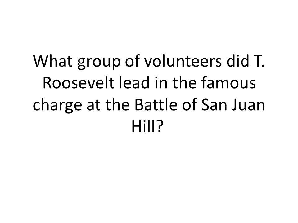 What group of volunteers did T