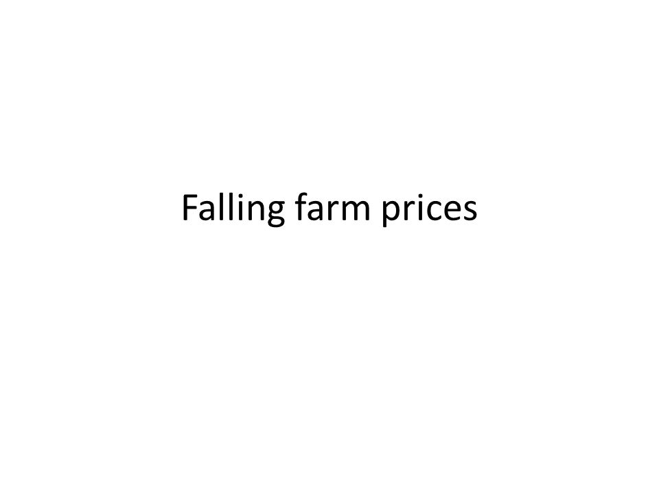 Falling farm prices