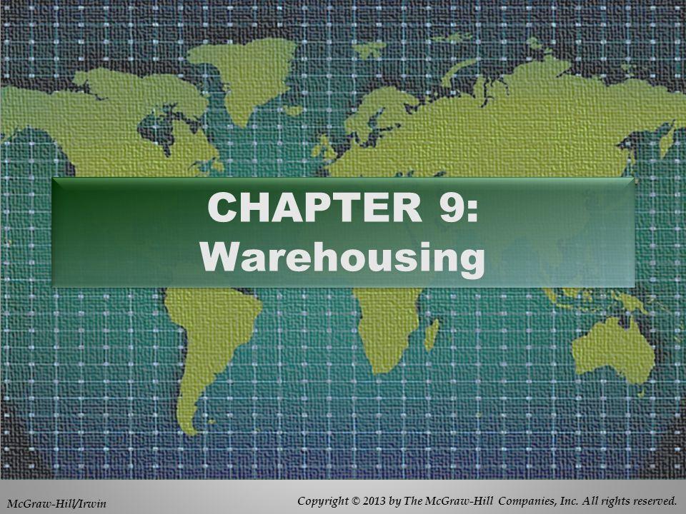 CHAPTER 9: Warehousing