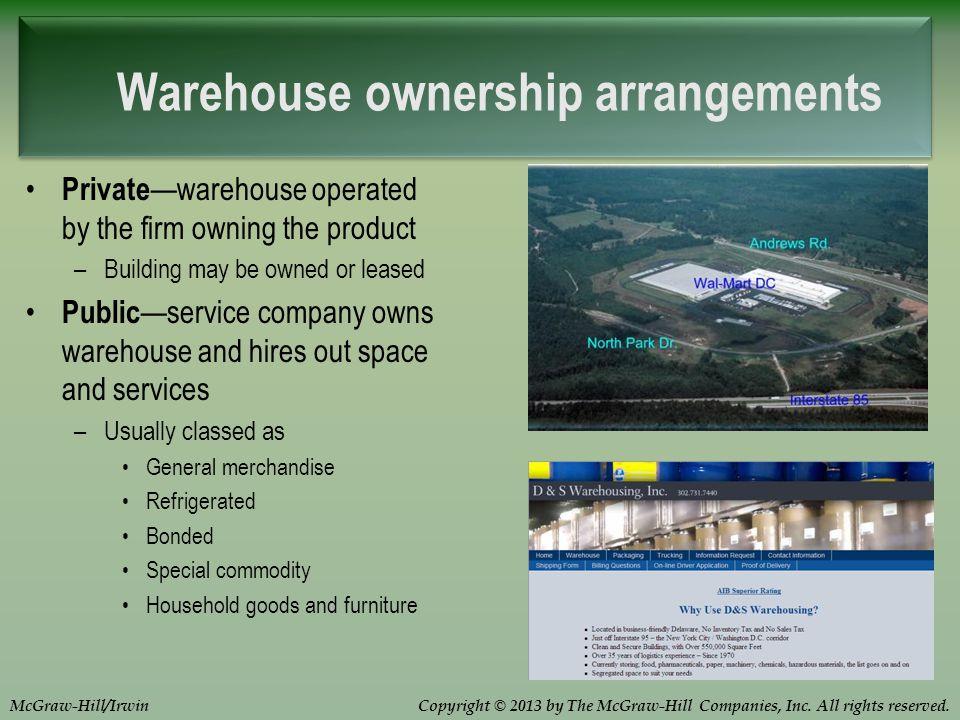 Warehouse ownership arrangements