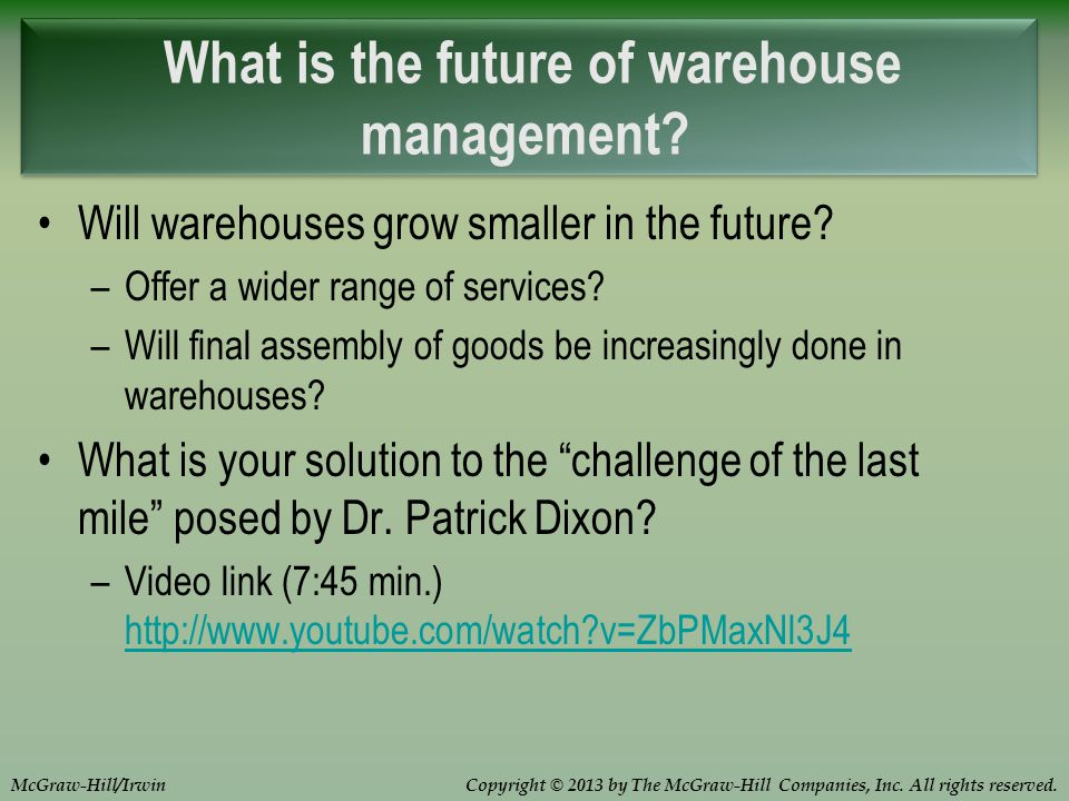 Chapter 9 Warehousing Ppt Download
