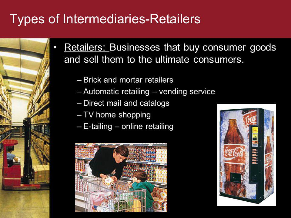Types of Intermediaries-Retailers
