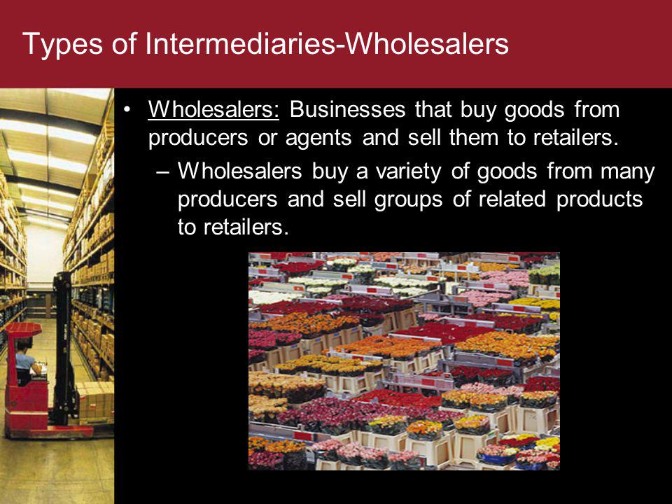 Types of Intermediaries-Wholesalers