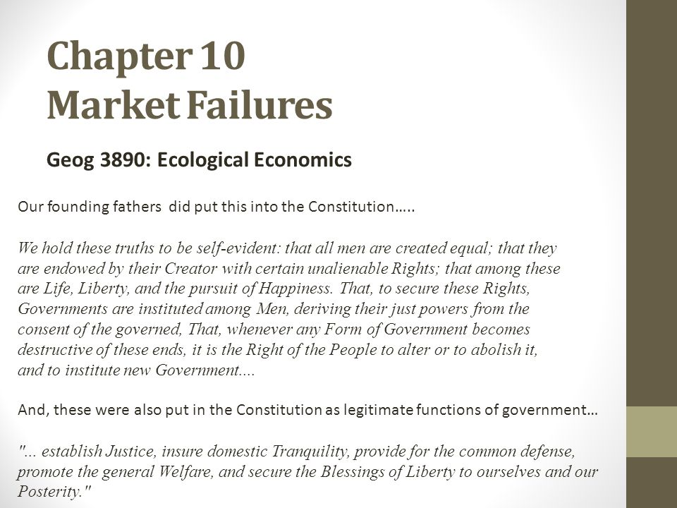 Chapter 10 Market Failures