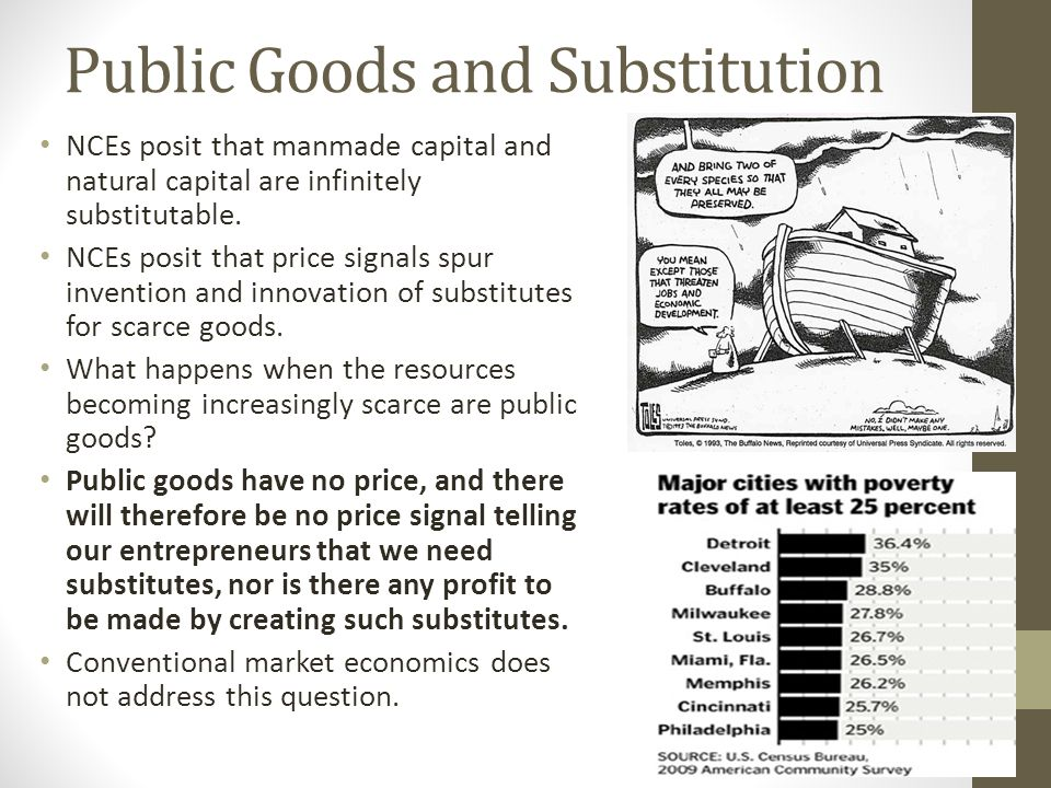Public Goods and Substitution