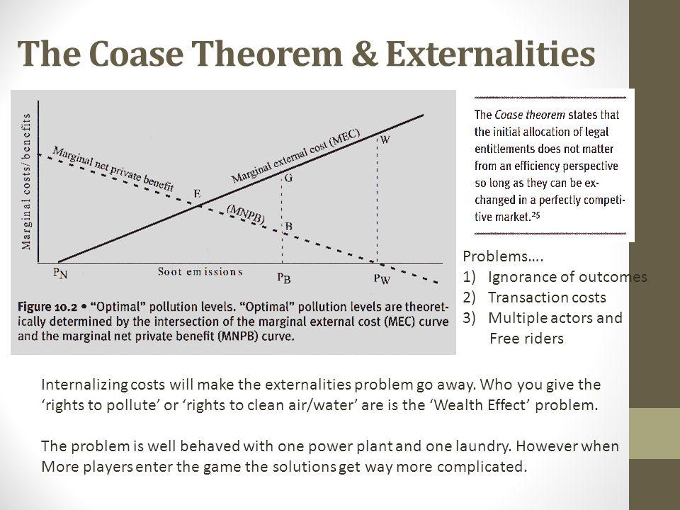 The Coase Theorem & Externalities