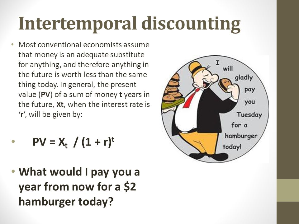 Intertemporal discounting