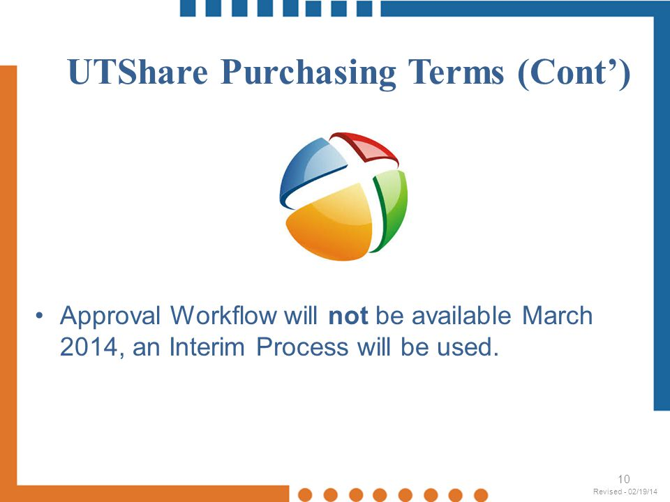 UTShare Purchasing Terms (Cont')