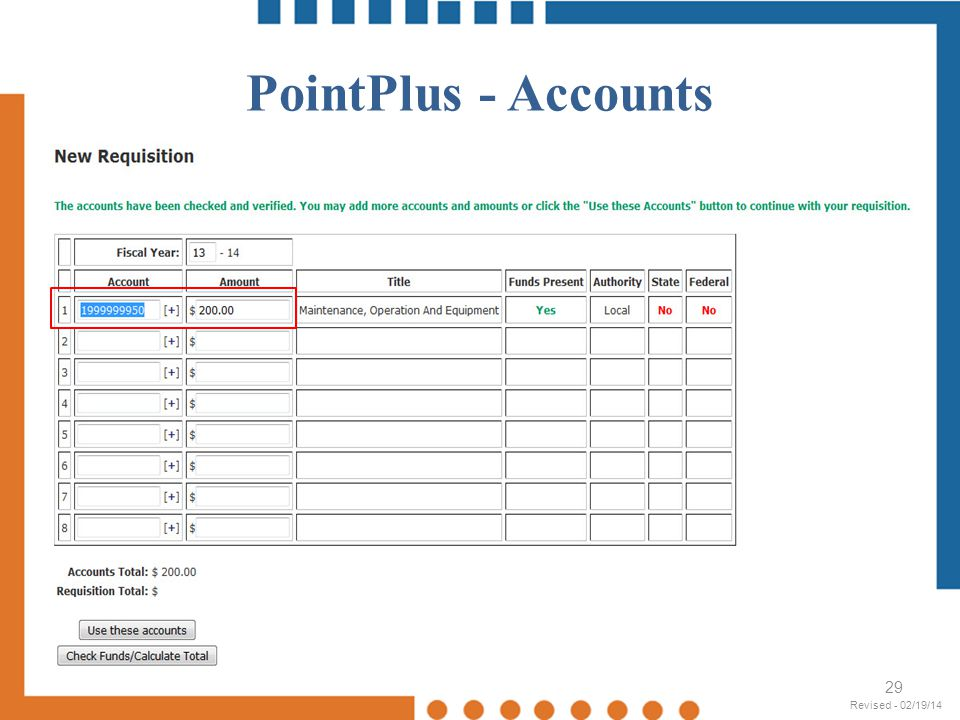 PointPlus - Accounts Revised - 02/19/14 Revised - 02/19/14