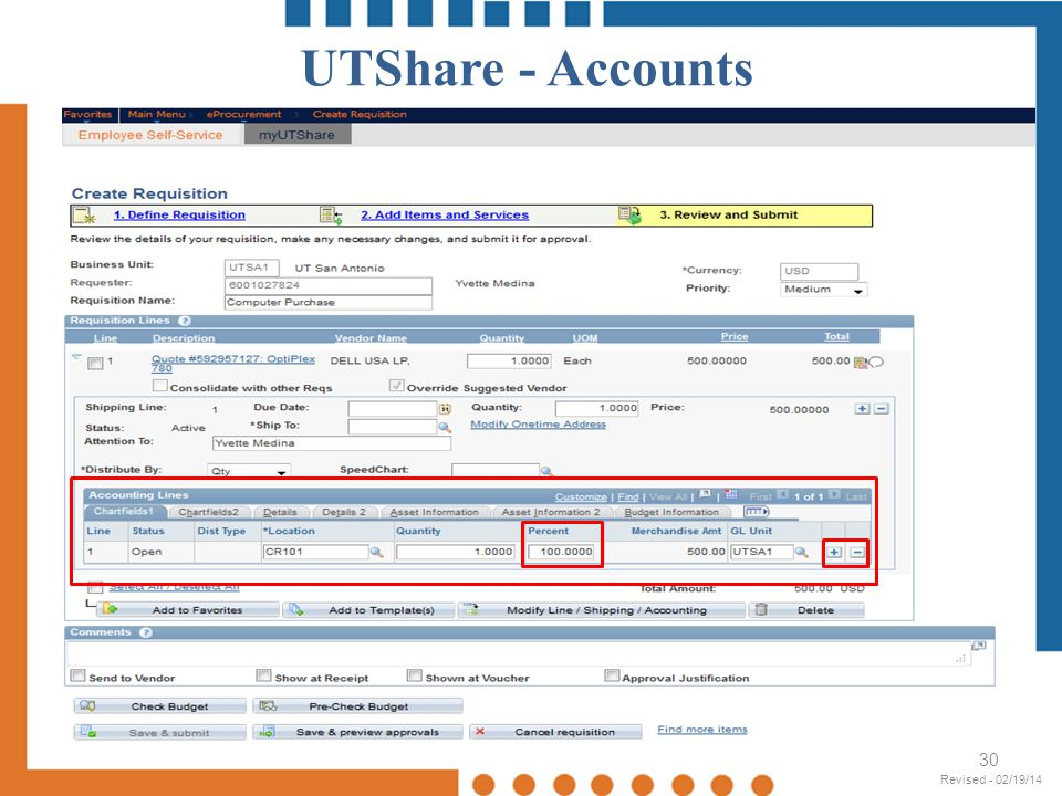 UTShare - Accounts Revised - 02/19/14 Revised - 02/19/14