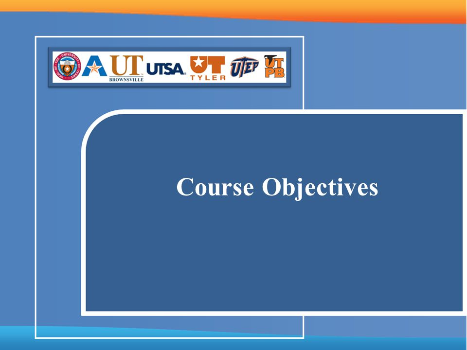 Course Objectives Revised - 02/19/14
