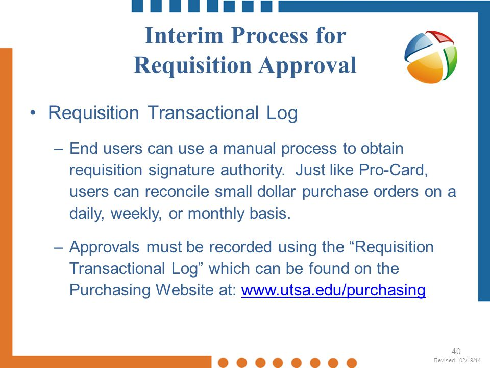 Interim Process for Requisition Approval