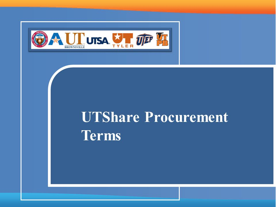 UTShare Procurement Terms
