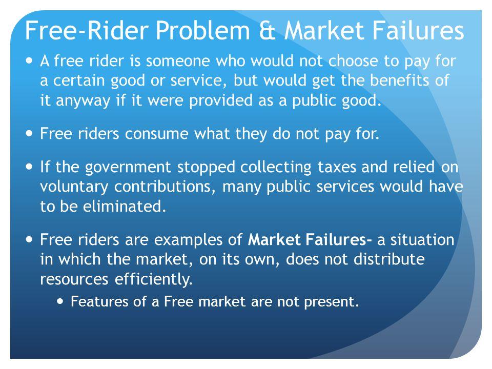 Free-Rider Problem & Market Failures