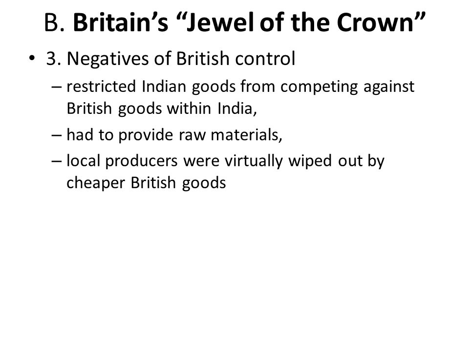 B. Britain's Jewel of the Crown