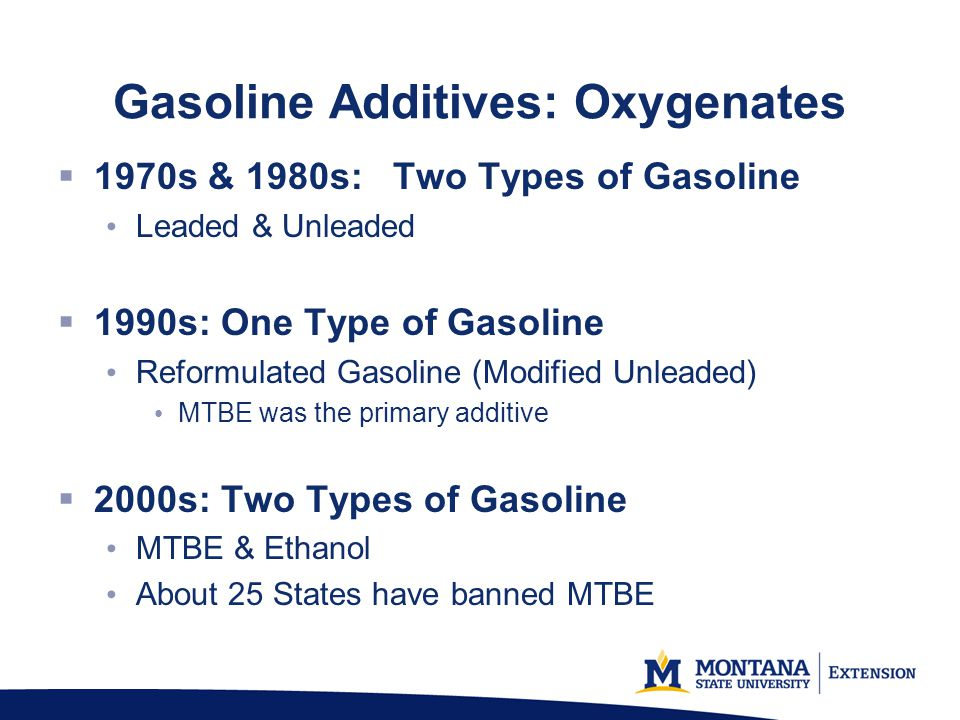Gasoline Additives: Oxygenates