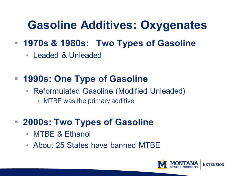 Gasoline Additives: Oxygenates
