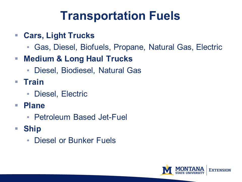 Transportation Fuels Cars, Light Trucks