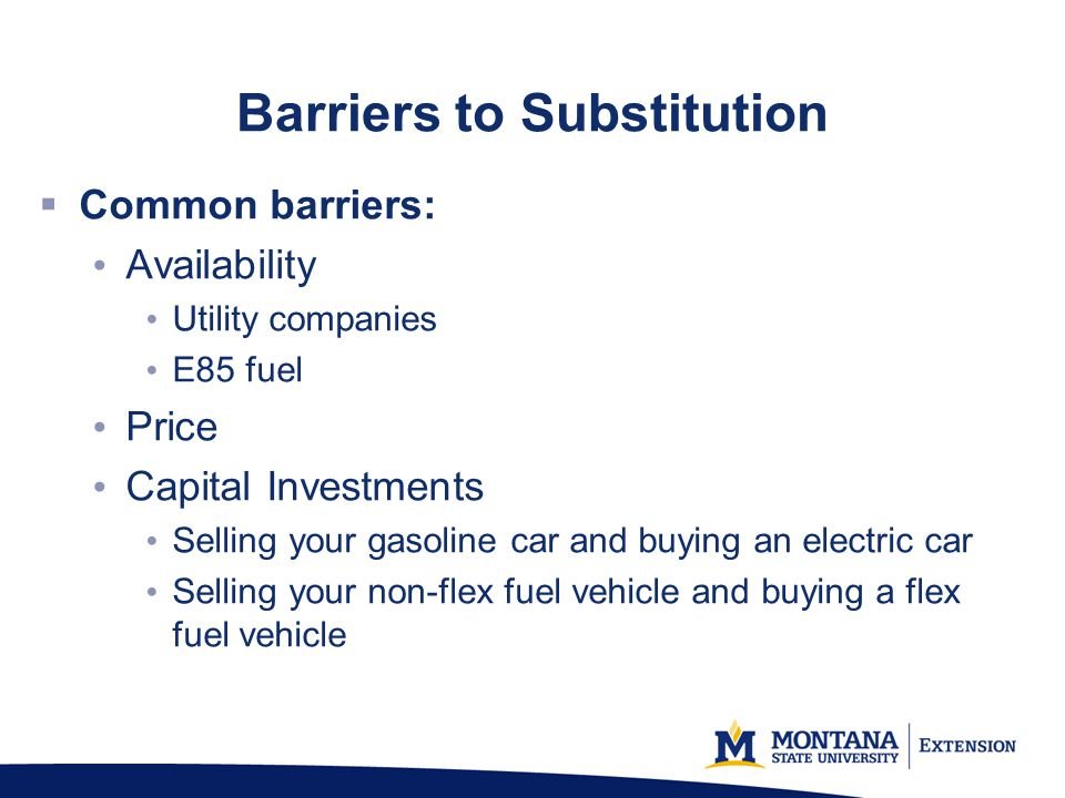 Barriers to Substitution
