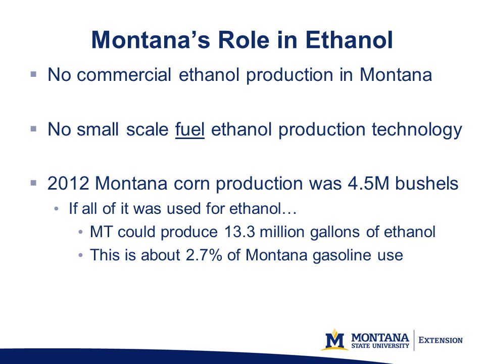 Montana's Role in Ethanol