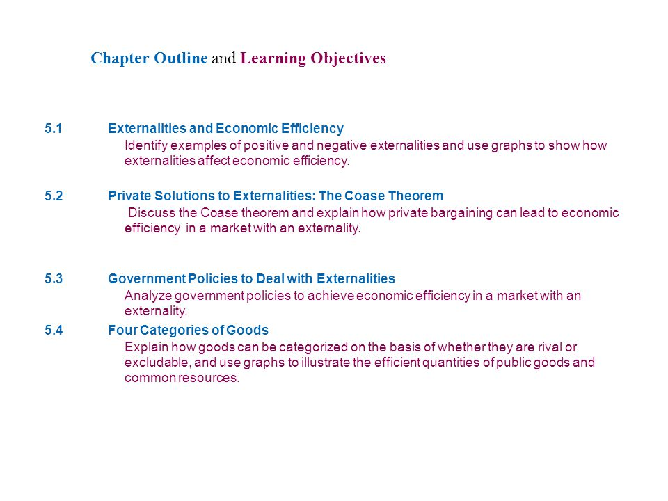5 Chapter Outline and Learning Objectives CHAPTER