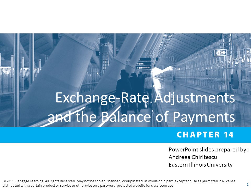 Exchange-Rate Adjustments and the Balance of Payments