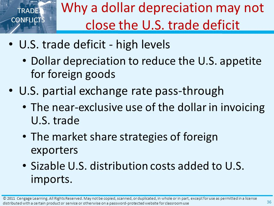 Why a dollar depreciation may not close the U.S. trade deficit