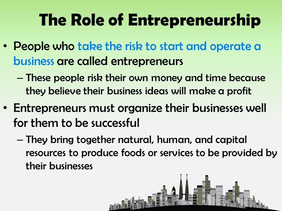 The Role of Entrepreneurship