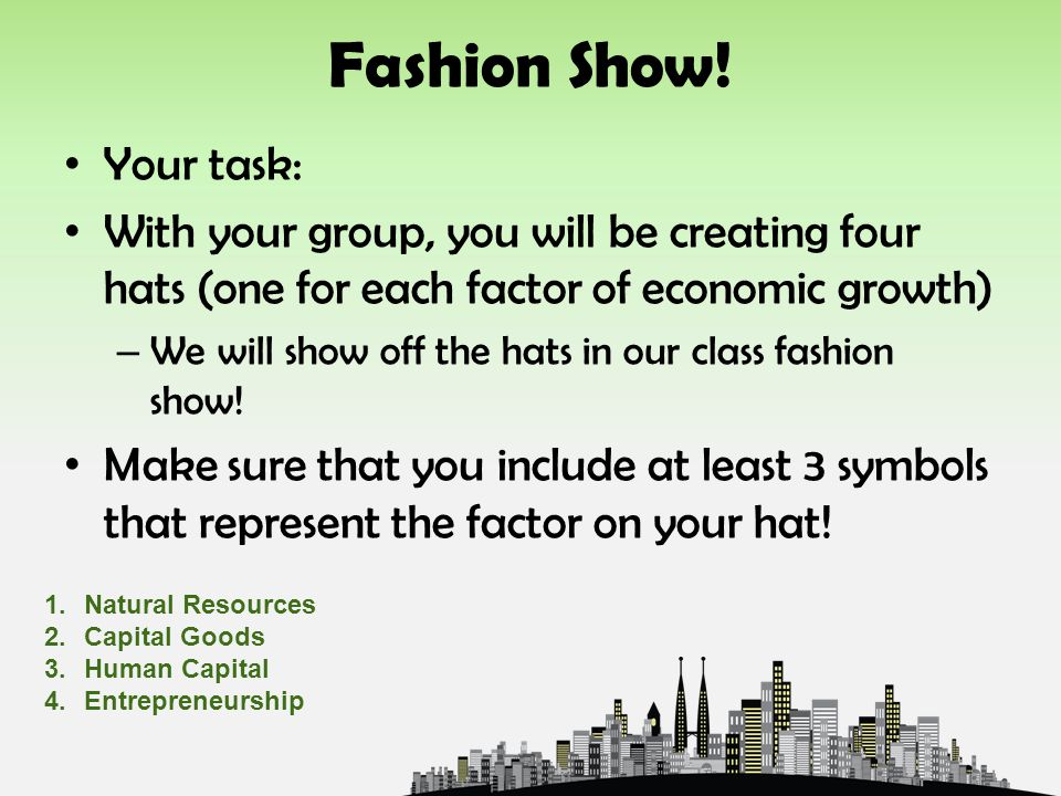 Fashion Show! Your task: