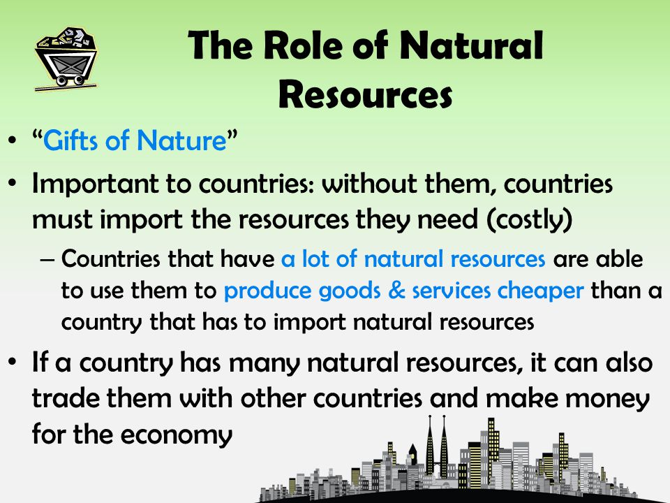 The Role of Natural Resources