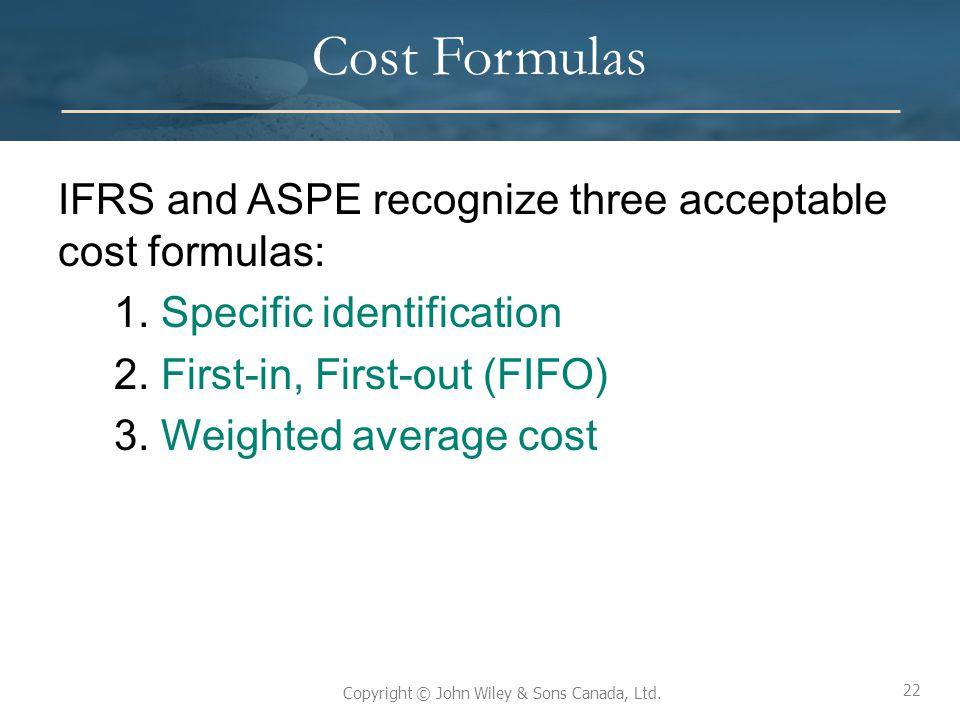 Cost Formulas