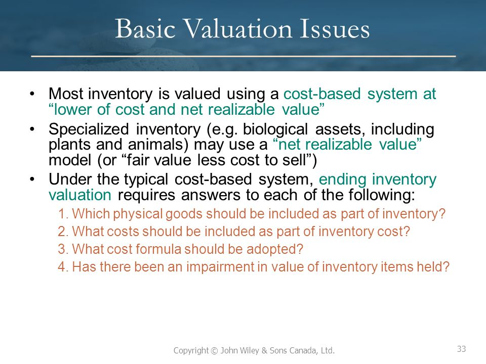 Basic Valuation Issues