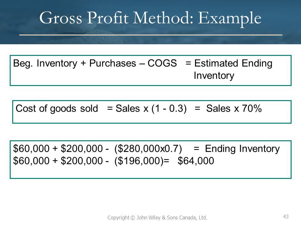 Gross Profit Method: Example